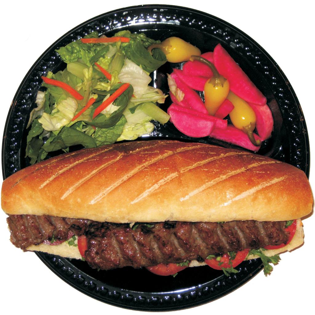 #20 Beef Lula Kabob Sandwich