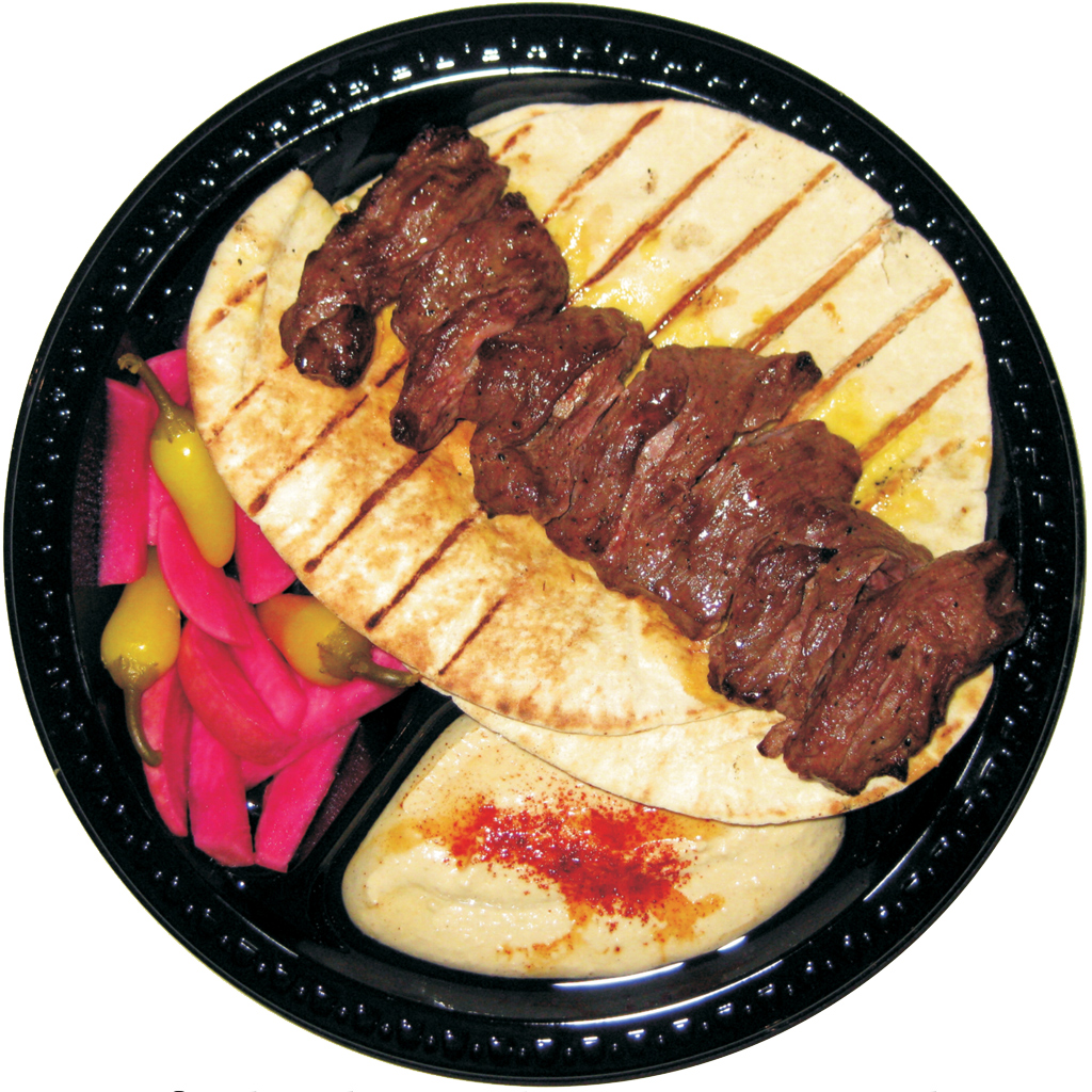 #4 Beef Shish and Hummus